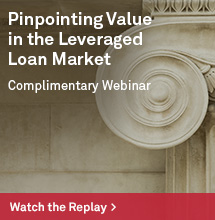 Insurance Leveraged Loans Webinar Replay